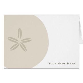 Sand Dollar Personalized Notecard