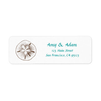 Sand Dollar Return Address Label