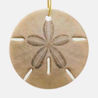 Sand dollar round ceramic ornament