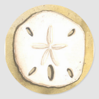 Sand Dollar Sea Shell Classic Round Sticker