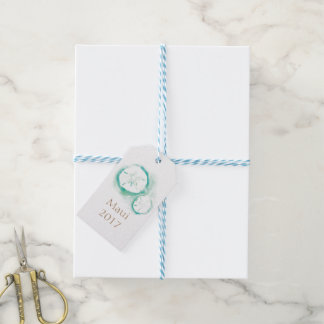Sand Dollar Seafoam Favour Tags Pack Of Gift Tags