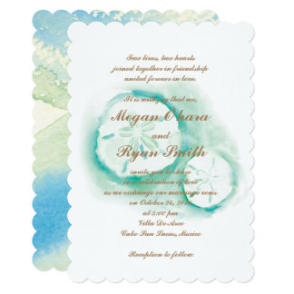 Sand Dollar Seafoam Invitation