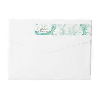 Sand Dollar Seafoam Wrap Around Label