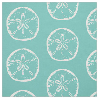 Sand dollar seashell beach theme textile fabric