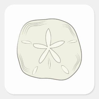 Sand Dollar Square Sticker