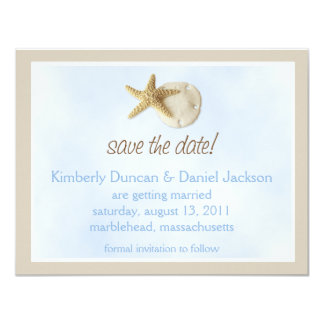 Sand Dollar & Starfish Save the Date Card