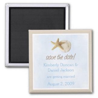 Sand Dollar & Starfish Save the Date Magnet
