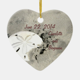 Sand Dollar Wedding Date Ornament