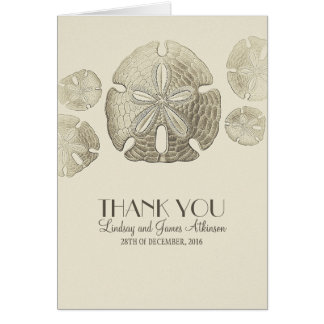 Sand Dollar wedding thank you cards