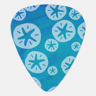 Sand Dollar White and Blue Pattern Pick