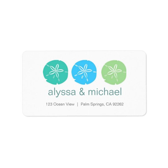 Sand Dollars Address Labels