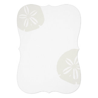 Sand Dollars Blank Beach Wedding Fan Program Paper Invitation
