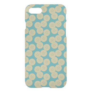 Sand Dollars Pattern gold teal iPhone 7 Clearly iPhone 7 Case