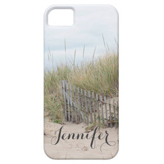 Sand dune and beach fence at Race Point, Cape Cod iPhone 5 Cover