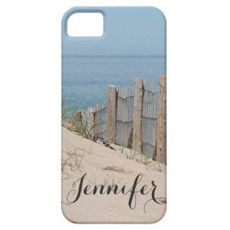Sand dune and beach fence by the ocean iPhone 5 cases