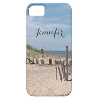 Sand dune and beach fence on Cape Cod iPhone 5 Cover