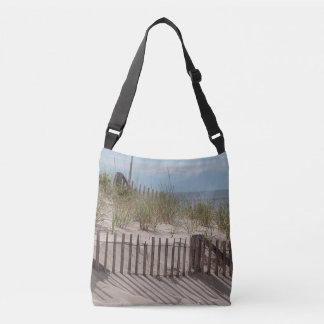 Sand dune and beach fences crossbody bag