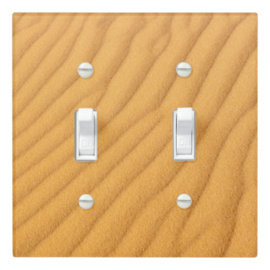 Sand Dune Double Toggle Light Switch Cover