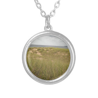 Sand dune silver plated necklace