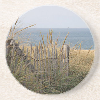 Sand dunes and beach beverage coasters