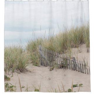 Sand dunes and beach fence