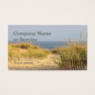 Sand dunes and beach fence business card