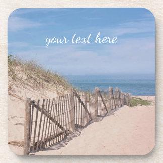 Sand dunes and beach fence coaster