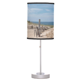 Sand dunes and beach fence desk lamp
