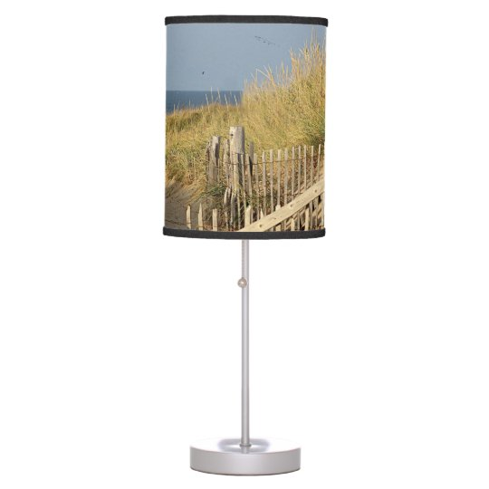 Sand dunes and beach fence desk lamps