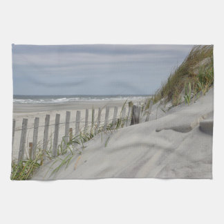 Sand Dunes and Beach Fence Kitchen Towel