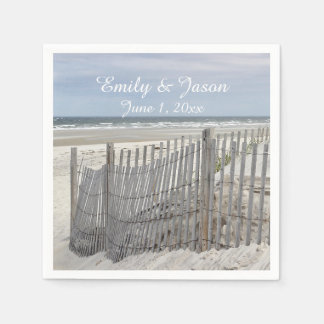Sand Dunes and Beach Fence Paper Napkin
