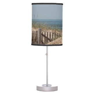 Sand dunes and beach fence table lamp
