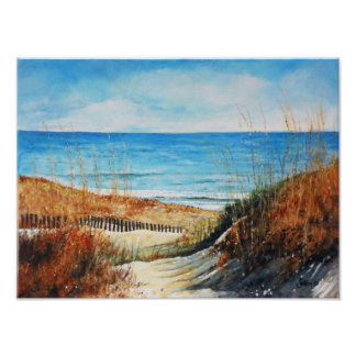 Sand Dunes and Ocean Painting | Photo Print