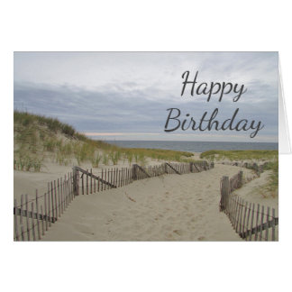 Sand dunes and pathway to the beach card