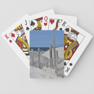Sand Dunes and weathered fence Playing Cards