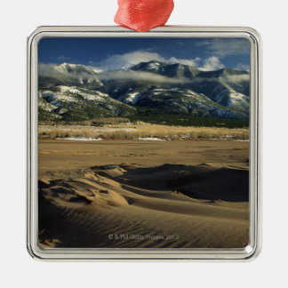 Sand dunes at Great Sand Dunes National Silver-Colored Square Ornament