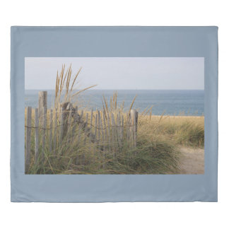Sand dunes at the beach duvet cover