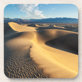 Sand dunes in Death Valley, CA Beverage Coaster