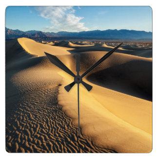 Sand dunes in Death Valley, CA Clocks
