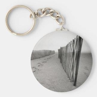Sand Fence Basic Round Button Keychain