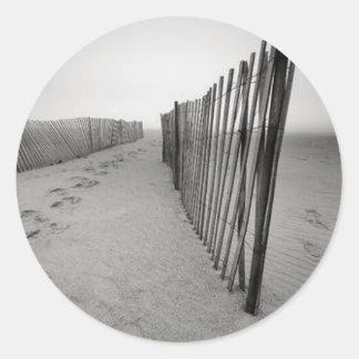 Sand Fence Classic Round Sticker