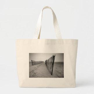 Sand Fence Jumbo Tote Bag