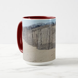 Sand Fence on Virginia Beach Mug