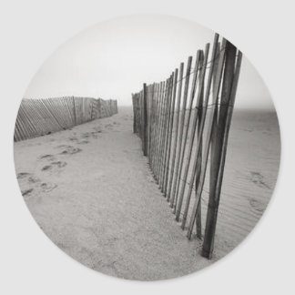 Sand Fence Round Sticker