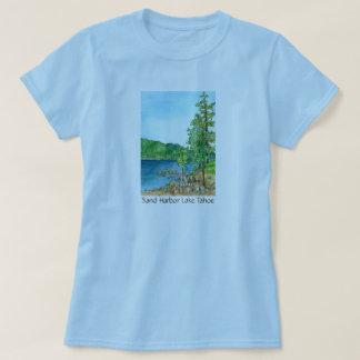 Sand Harbor Lake Tahoe Watercolor Art T-Shirt