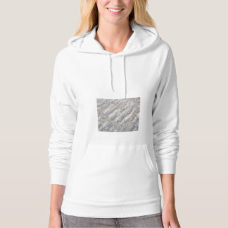 Sand heart. Smiley sunshine beach drawing Hoodie