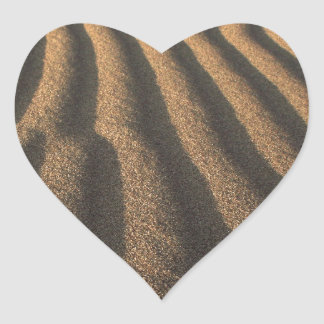 sand heart sticker