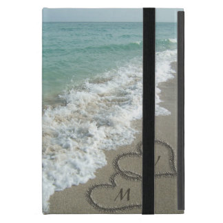 Sand Hearts on the Beach, Custom Cases For iPad Mini