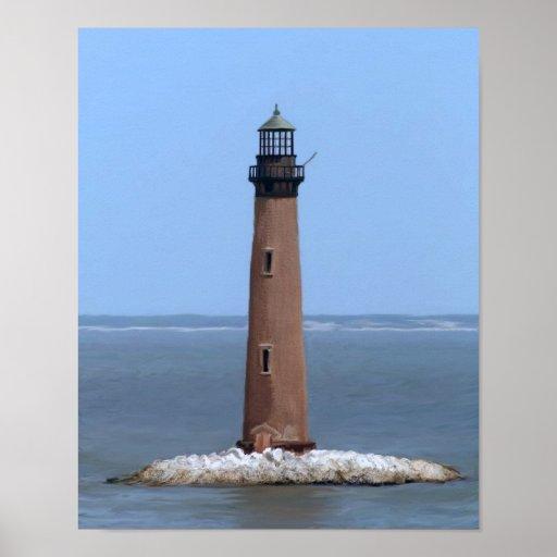 sand island lighthouse poster