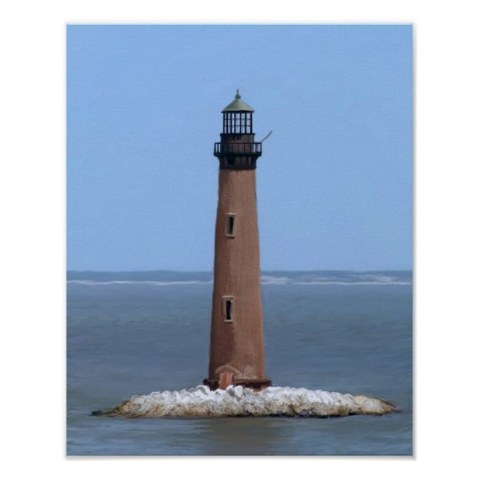 sand island lighthouse poster